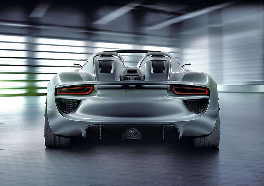 Porsche 918 Spyder Rear View