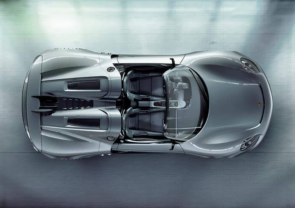 Porsche 918 Spyder Top View