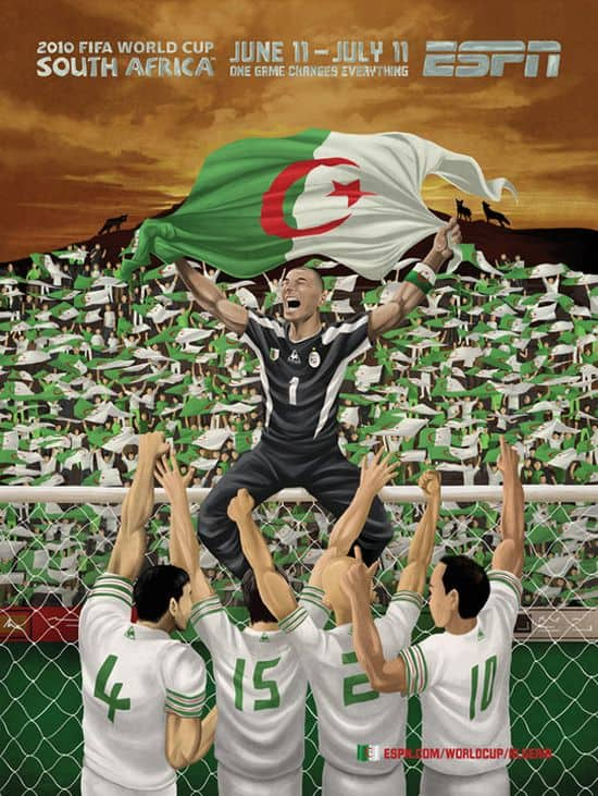 Algeria World Cup Poster