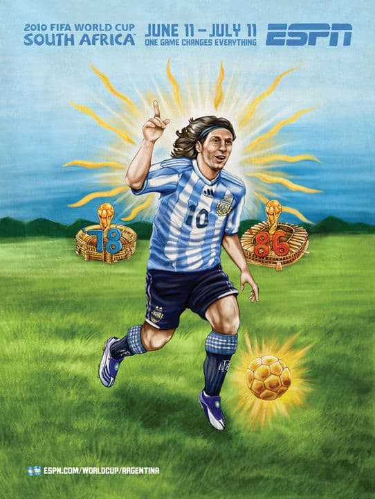 Argentina World Cup Poster