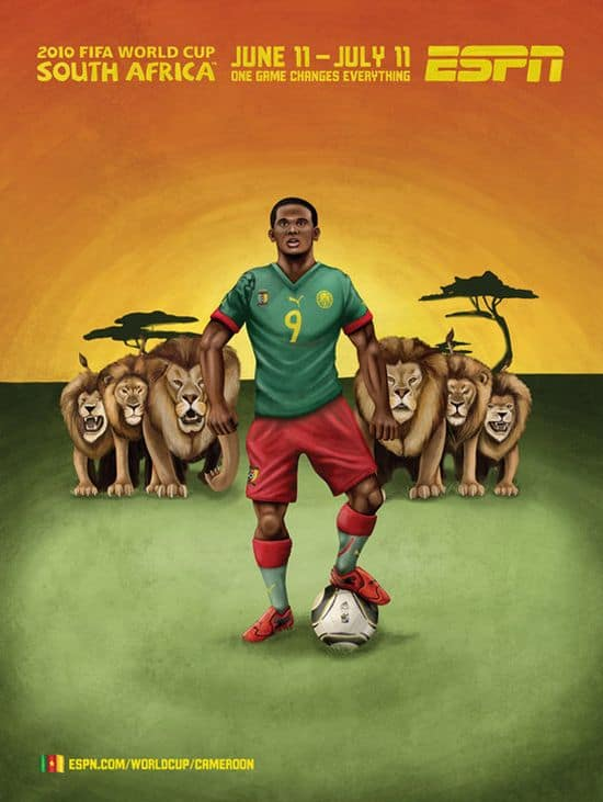 Cameroon World Cup Poster