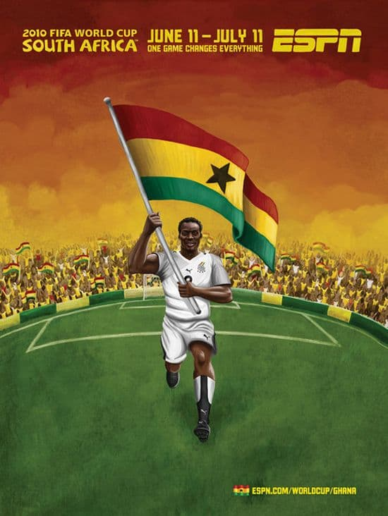 Ghana World Cup Poster