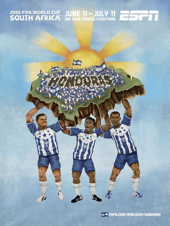 Honduras World Cup Poster
