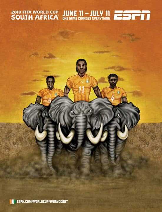 Ivory Coast World Cup Poster