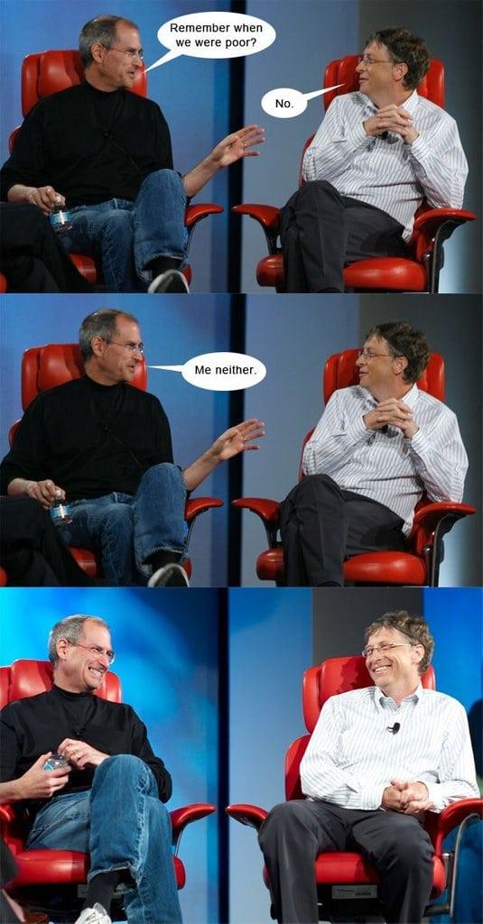 Steve Jobs and Bill Gate