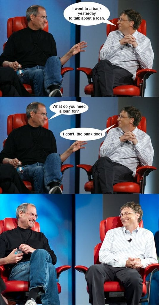 Steve Jobs and Bill Gate Have a Chat