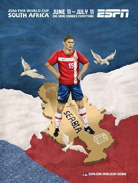 Serbia World Cup Poster