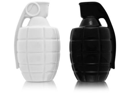 Grenade Shaped Salt & Pepper Shakers