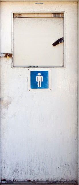 Bathroom Mural for Door