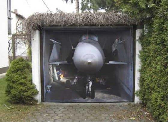 Fighter Jet Garage Mural