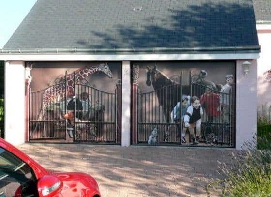 garage door murals because you can unfinished man. Black Bedroom Furniture Sets. Home Design Ideas