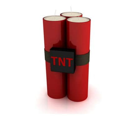 Candles Shaped To Look Like TNT Dynamite
