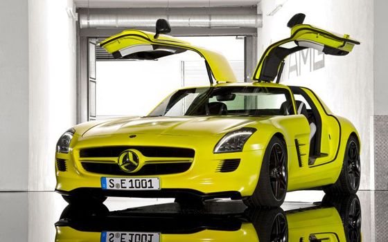 mercedes benz sls amg e cell prototype gullwing