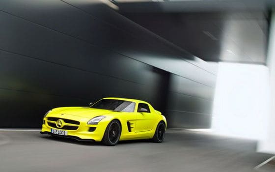 mercedes benz sls amg e cell prototype driving
