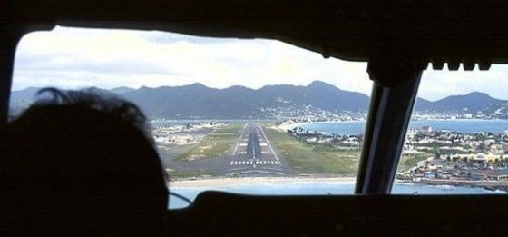 cockpit point of view landing at airport