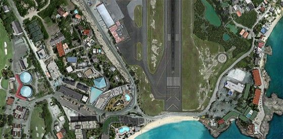 Juliana International Airport Google Map View