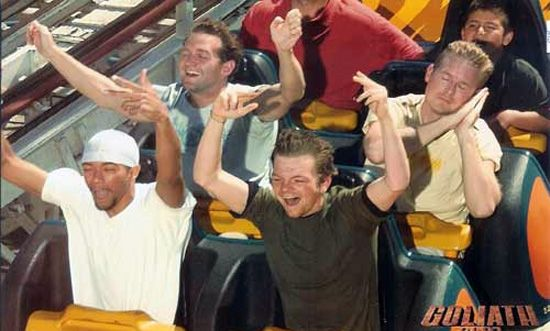 More Douche Bags On Roller Coaster