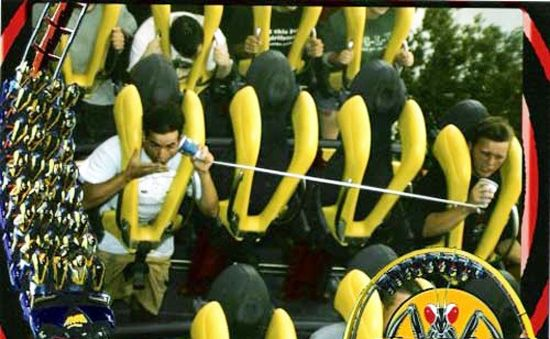 Mens Picture on roller coaster magazine