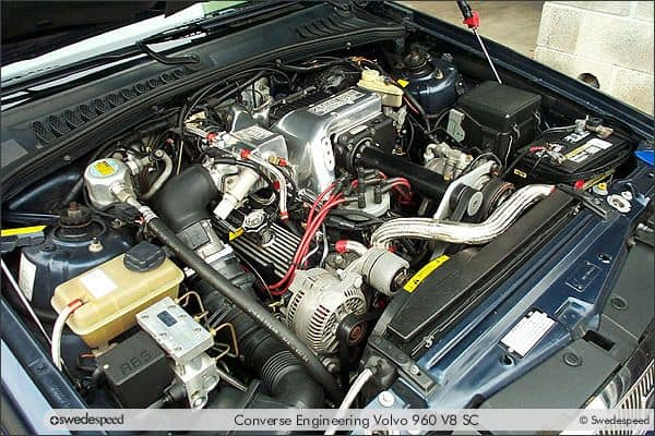 Mustang V8 Supercharged Engine in a Volvo 960