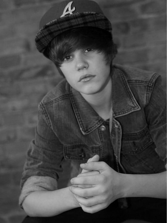 Justin Bieber Black & White Photo