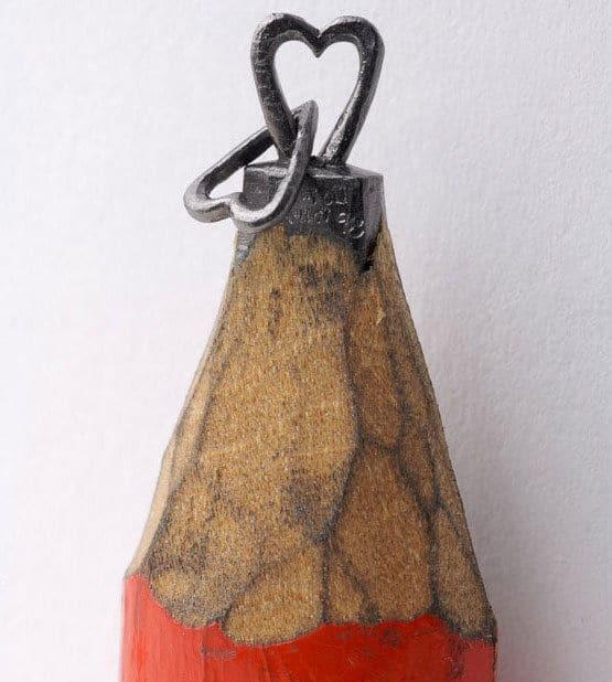 Dalton Ghetti Heart Pencil Sculpture