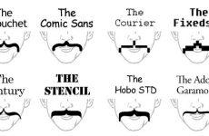 Curly Bracket Moustache Mustache Typestache