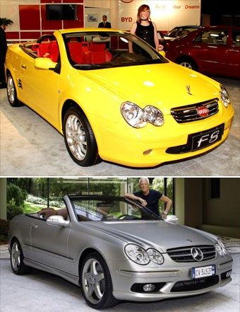 Chinese BYD F8 copies Mercedes CLK