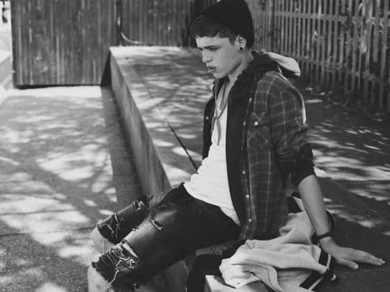 Topman Denim Presents - A Boy Sitting And Looking Sad