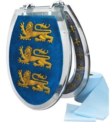 Toilet Seat with Richard the Lion Heart's Crest