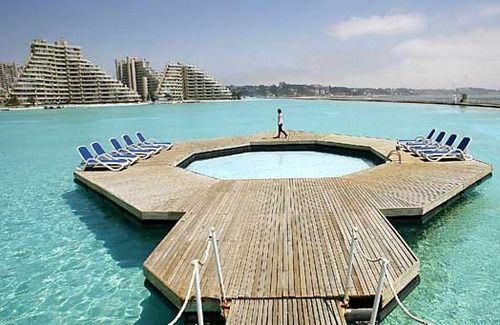 A Wooden Dock On San Alfonso Del Mar