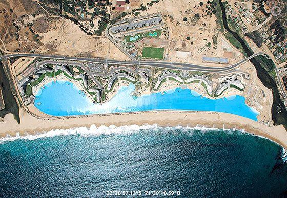 A Satellite Image Of San Alfonso Del Mar In Algarrobo