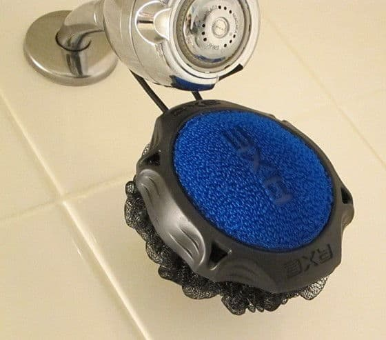 The Axe Detailer Shower Tool, Close Up Scrubber Shot