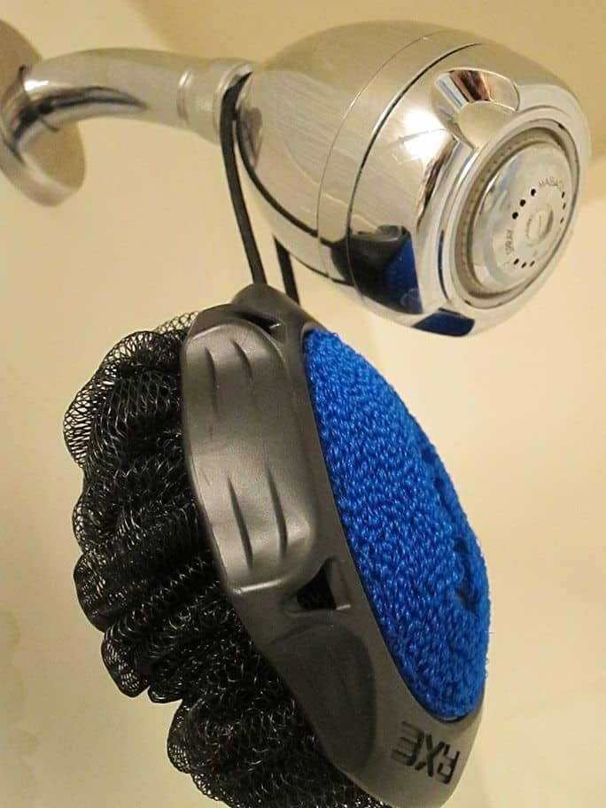 The Axe Detailer Shower Tool, Scrubber And Lather Side Shot