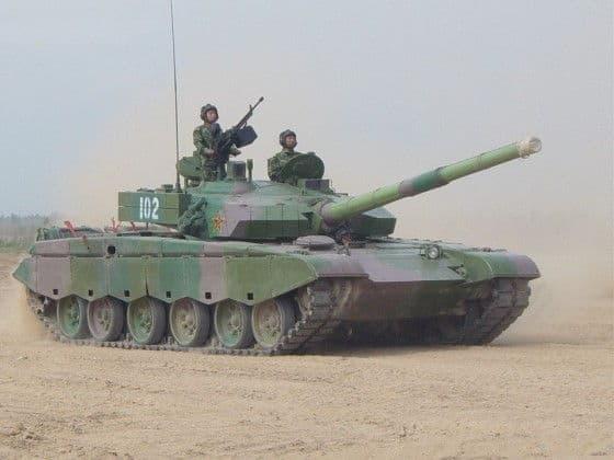 Type 99 Battle Tank In The Desert