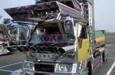 Shiny Japanese Dekotora Art Truck