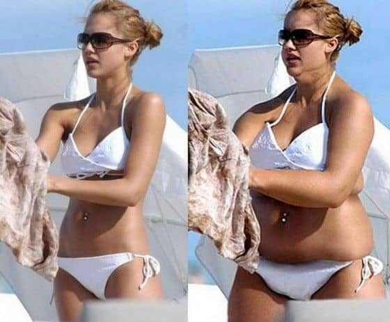 If Jessica Alba was fat and in a bathing suit