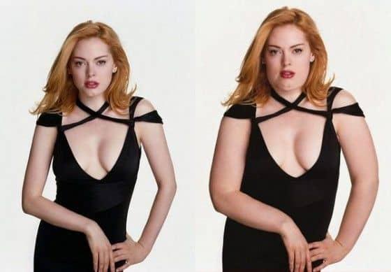 Rose McGowan if she was fat