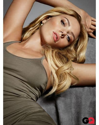 Scarlett Johansson wearing olive drab on the cover of GQ