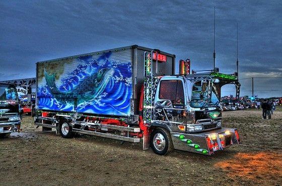 Colorful Pictures of Dekotora Trucks in Japan