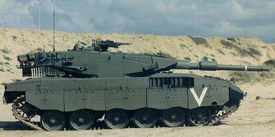 Israeli Merkava tank getting hit by Hezbollah missile
