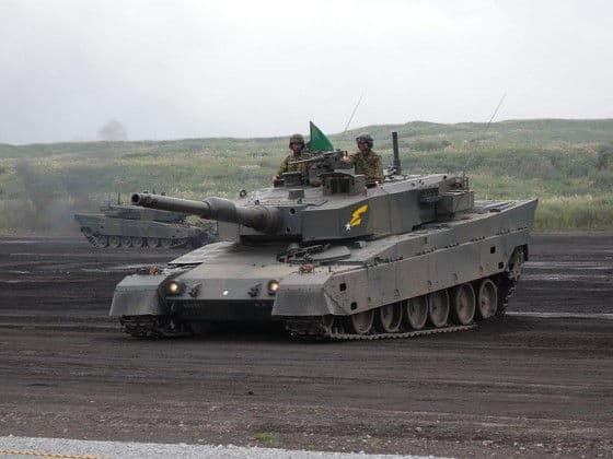 Japanese Type 90 Tank Breaks Hard