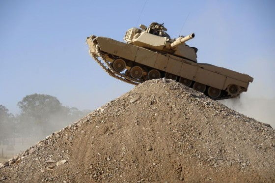 M1A1 Tank on top of a hill