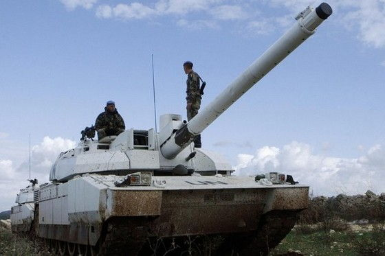 White UN Battle Tank from France Leclerc