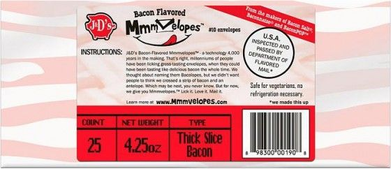 Bacon flavored envelopes