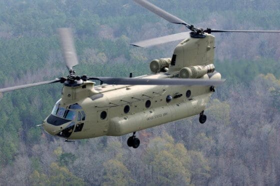 Twin Rotor CH-47 Chinook helicopter