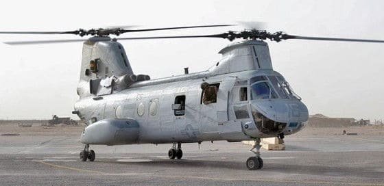 Boeing CH-46 Sea Knight coming in for a landing