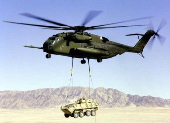 Sikorsky CH-53E Super Stallion in the desert