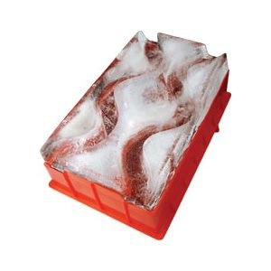 Small ice luge for alcohol with two tracks