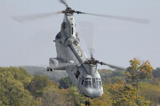 Ch-46 Low Fly by