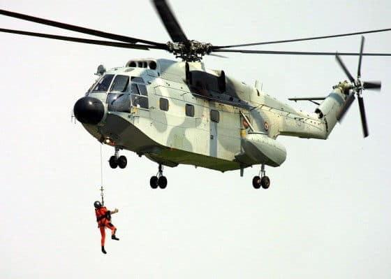 SA321 Super Frelon Naval Rescue Operation